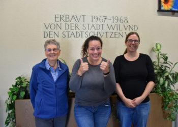 v. l. n. r.: Frey Edith, Müller Manuela, Haas Esther
